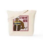 Valentine Dog Tote Bag