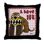 Valentine Dog Throw Pillow
