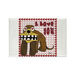 Valentine Dog Rectangle Magnet