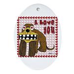 Valentine Dog Oval Ornament
