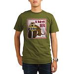 Valentine Dog Organic Men's T-Shirt (dark)