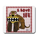 Valentine Dog Mousepad