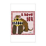 Valentine Dog Mini Poster Print