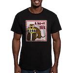 Valentine Dog Men's Fitted T-Shirt (dark)