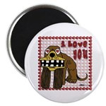 Valentine Dog Magnet