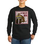 Valentine Dog Long Sleeve Dark T-Shirt