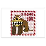 Valentine Dog Large Poster