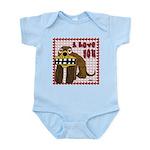 Valentine Dog Infant Bodysuit