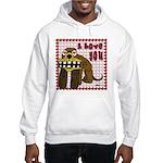Valentine Dog Hooded Sweatshirt