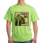 Valentine Dog Green T-Shirt