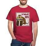Valentine Dog Dark T-Shirt