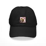 Valentine Dog Black Cap
