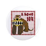 """Valentine Dog 3.5"""" Button (100 pack)"""