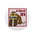 """Valentine Dog 3.5"""" Button"""