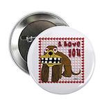 """Valentine Dog 2.25"""" Button (100 pack)"""