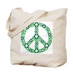 Recycle Peace Sign Tote Bag