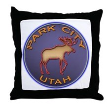 Park City Moose Designs Throw Pillow