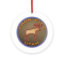 Park City Moose Designs Ornament (Round)