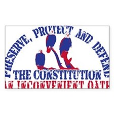Defend the Constitution Rectangle Sticker 10 pk)