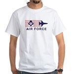 Masonic Air Force White T-Shirt