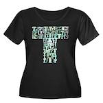 T Shirt Women's Plus Size Scoop Neck Dark T-Shirt