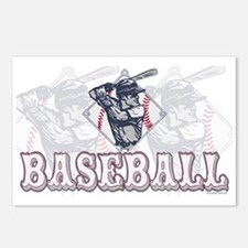 Retro Baseball Batter Postcards (Package of 8)