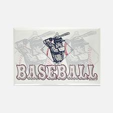 Retro Baseball Batter Rectangle Magnet