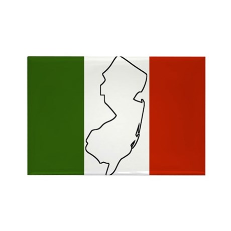 New Jersey Italian Flag Rectangle Magnet