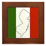 New Jersey Italian Flag Framed Tile