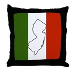 New Jersey Italian Flag Throw Pillow