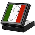 New Jersey Italian Flag Keepsake Box