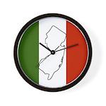 New Jersey Italian Flag Wall Clock