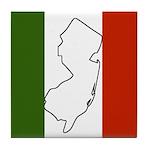 New Jersey Italian Flag Tile Coaster