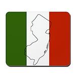 New Jersey Italian Flag Mousepad