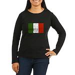 New Jersey Italian Flag Women's Long Sleeve Dark T