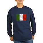 New Jersey Italian Flag Long Sleeve Dark T-Shirt