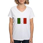 New Jersey Italian Flag Women's V-Neck T-Shirt