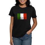 New Jersey Italian Flag Women's Dark T-Shirt