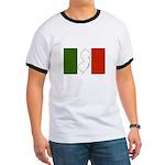 New Jersey Italian Flag Ringer T