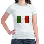 New Jersey Italian Flag Jr. Ringer T-Shirt