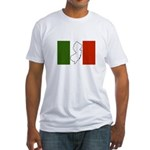 New Jersey Italian Flag Fitted T-Shirt