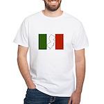 New Jersey Italian Flag White T-Shirt