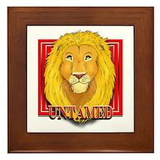Untamed Lion Framed Tile