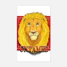 Untamed Lion Rectangle Decal