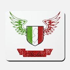 Jersey Italian Flag Crest Mousepad