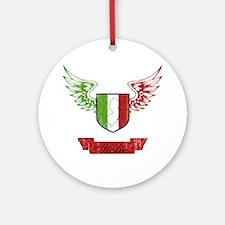 Jersey Italian Flag Crest Ornament (Round)