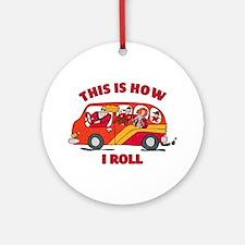 How I Roll Mom Minivan Ornament (Round)
