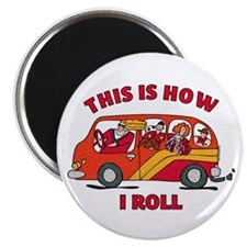 How I Roll Mom Minivan Magnet