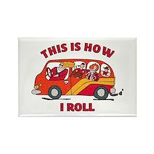 How I Roll Mom Minivan Rectangle Magnet