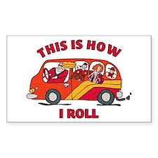 How I Roll Mom Minivan Rectangle Decal